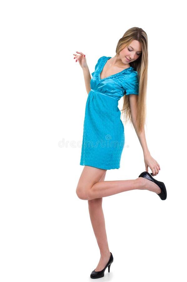 piękni czarny dziewczyny obrazka buty fotografia stock