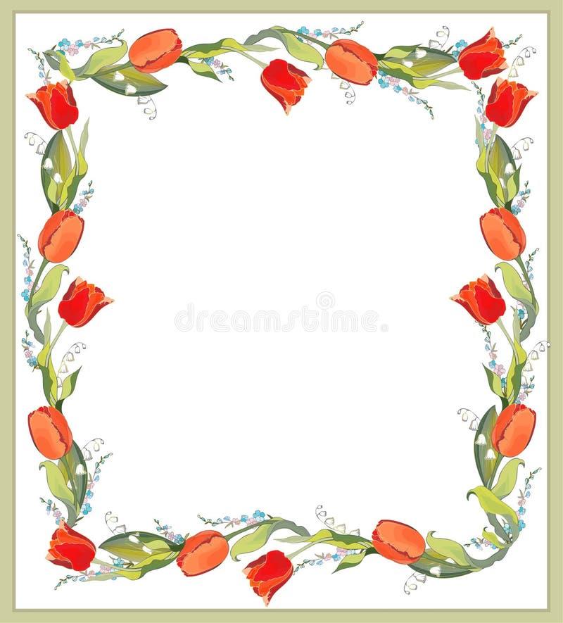 piękni dekoracyjni struktury lelui o tulipany ilustracji