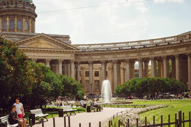 Piękni historyczni budynki St Petersburg obraz royalty free