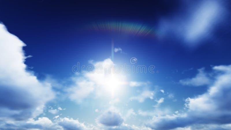 Piękni jaśni nieba podczas dnia chmury są dobrzy ilustracji