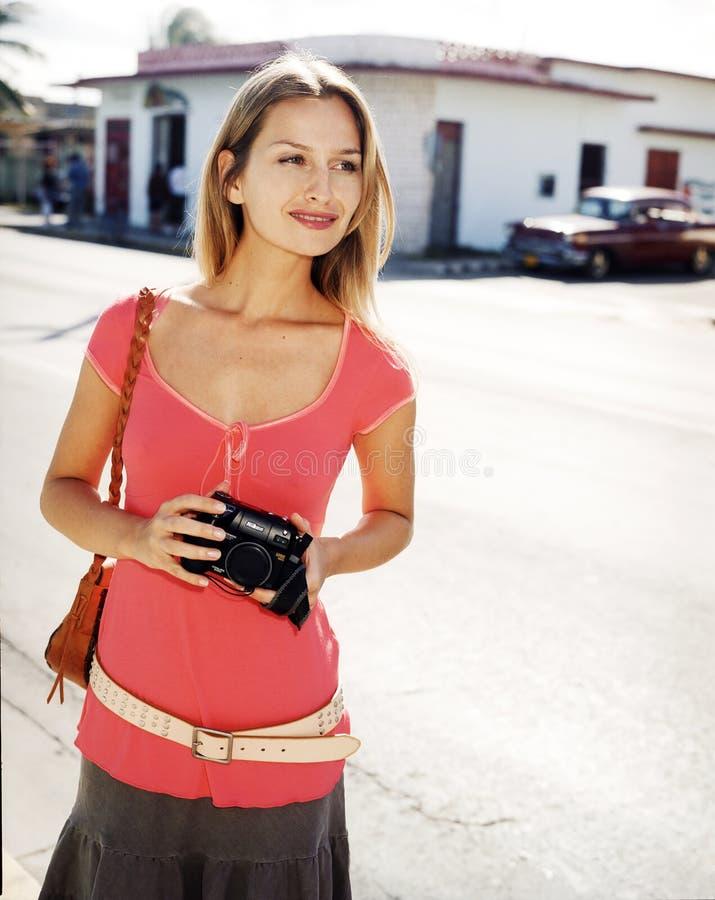 piękni kamery kobiety potomstwa obraz stock
