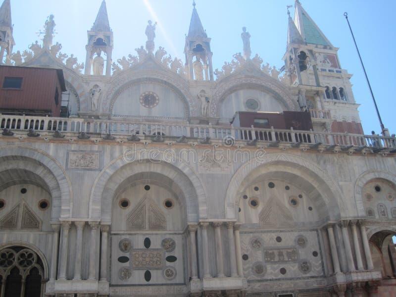 Piękni kościół Wenecja w lecie zdjęcia royalty free