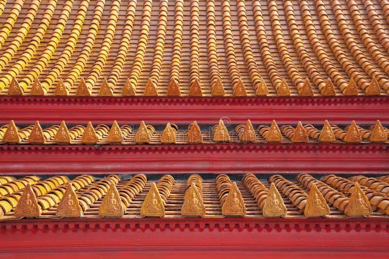 Piękni kolorów wzory świątynne dachowe płytki zdjęcia royalty free