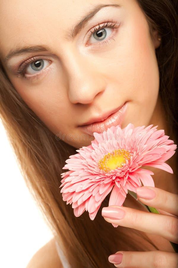 piękni kwiatu gerber kobiety potomstwa zdjęcie royalty free