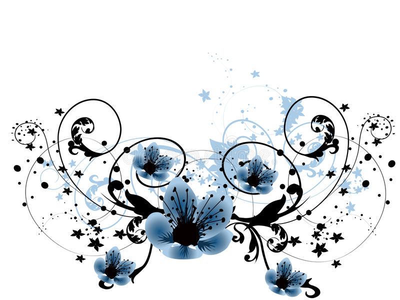 piękni kwiaty royalty ilustracja