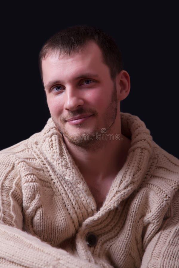 piękni mężczyzna portreta potomstwa obraz stock