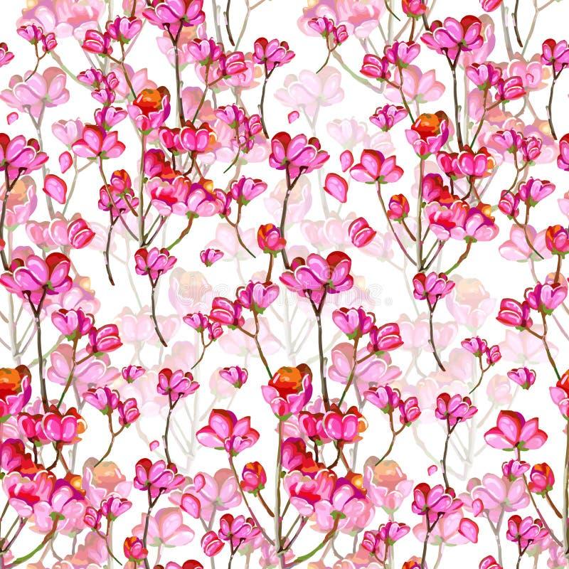 Piękni menchia kwiaty royalty ilustracja