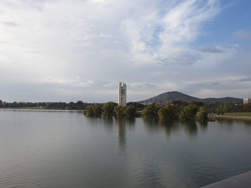 Piękni miasta Australia są Canberra i Sydney znać dla Gryf jeziora, muzeum narodowe, sztuki galeria, parlament obrazy royalty free