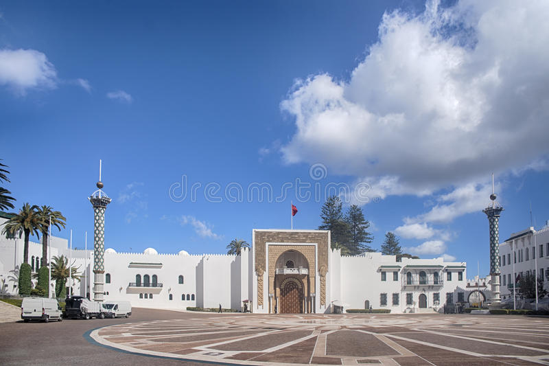 Piękni miasta w północnym Maroko, Tetouan fotografia stock