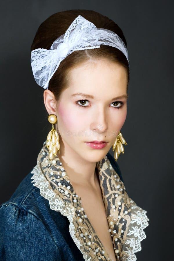 piękni mody dziewczyny portreta potomstwa obrazy stock