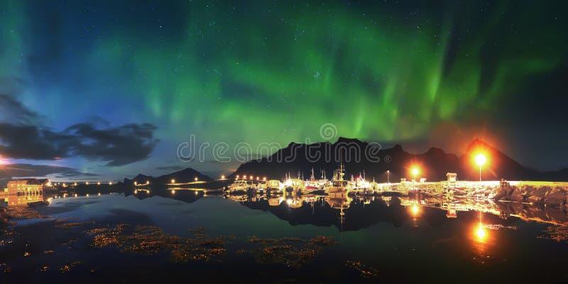 Piękni północni światła obrazy royalty free