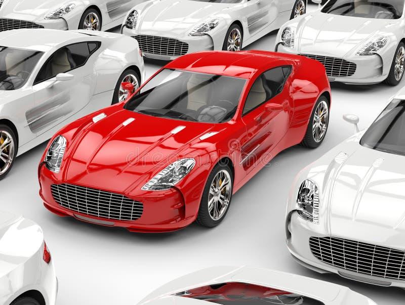 piękni samochodowi czerwoni sporty ilustracja wektor