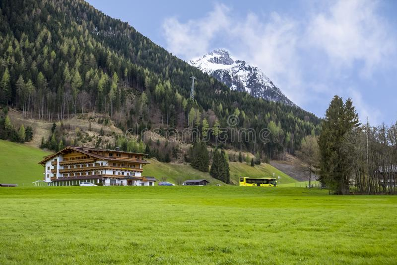 Piękni sceniczni alps Europa fotografia royalty free