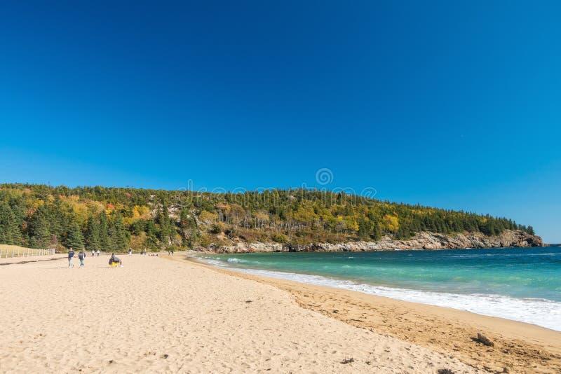 Piękni spadków kolory Acadia park narodowy zdjęcie stock