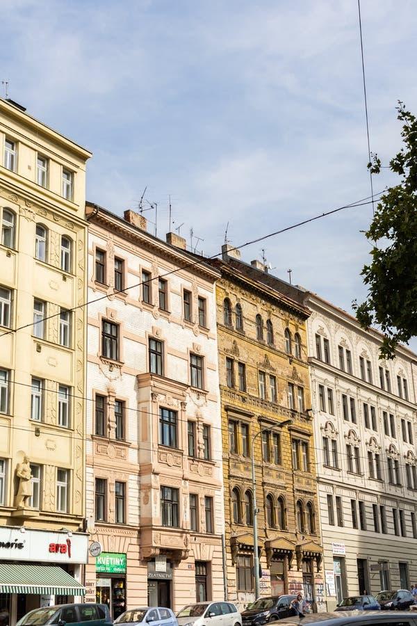 Piękni starzy domy w Praga, Czechia obraz royalty free