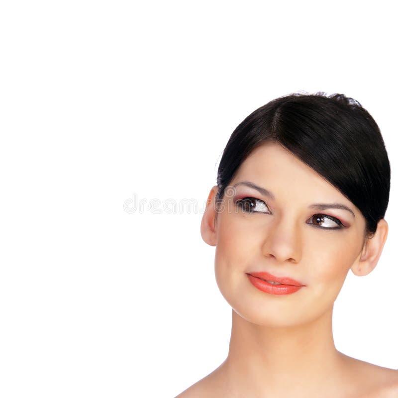 piękni twarzy s uśmiechnięci kobiety potomstwa obrazy stock