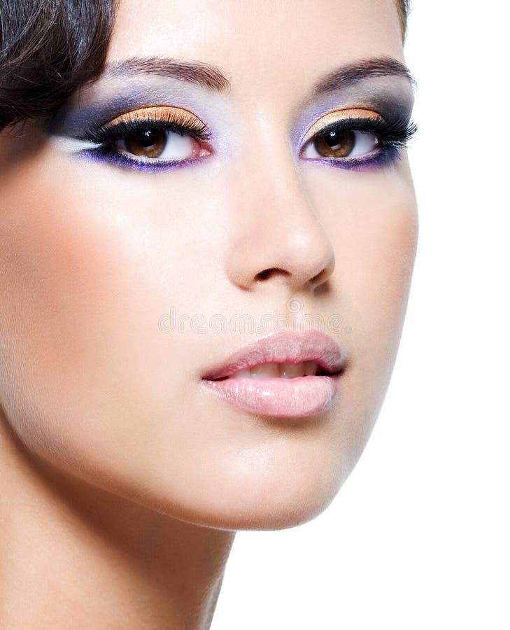 piękni twarzy splendoru kobiety potomstwa obrazy royalty free