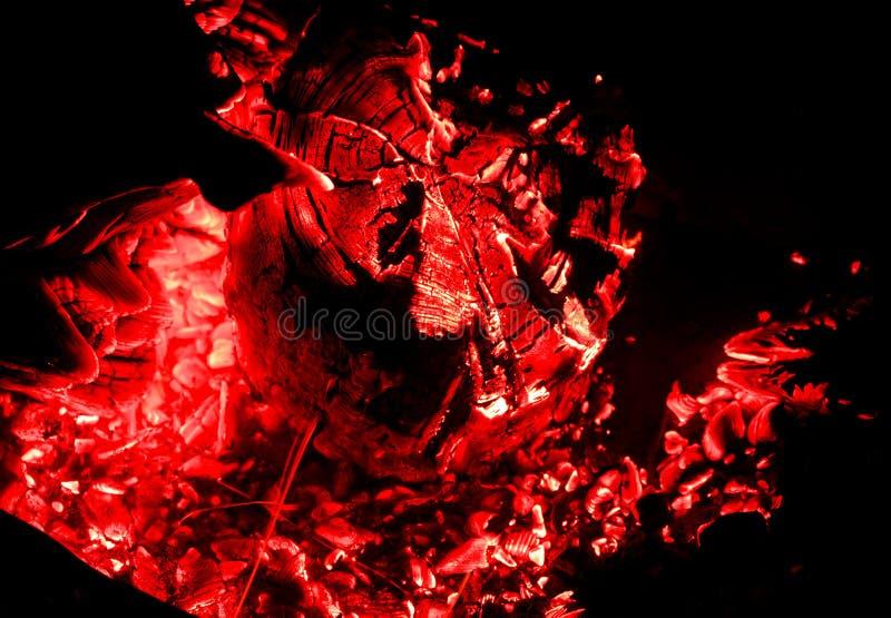 Piękni węgle w grillu natura campingowa fotografia royalty free