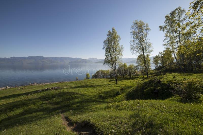 Piękni widoki jeziorny Baikal obraz royalty free