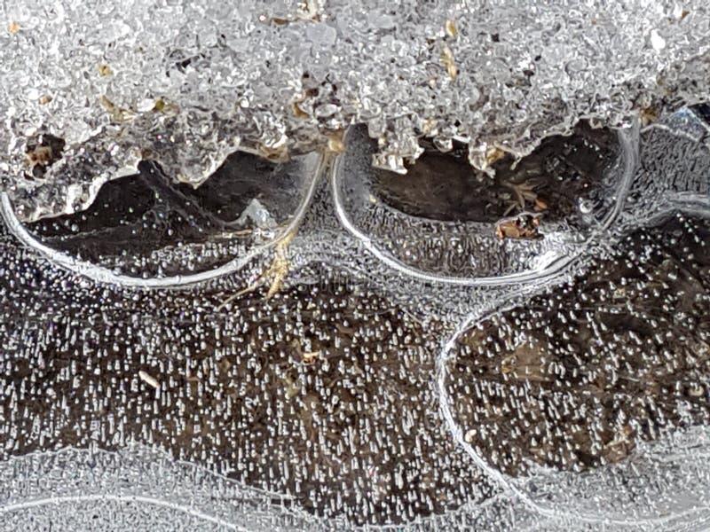 Piękni wizerunki lód, woda i ziemia w cañadas Del Teide, Tenerife 9 fotografia royalty free