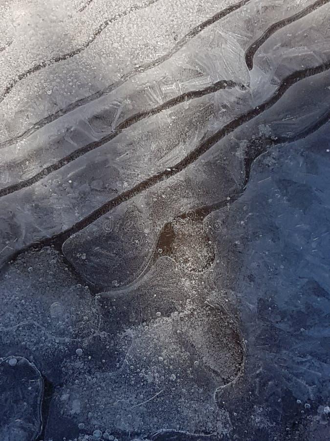 Piękni wizerunki lód, woda i ziemia w cañadas Del Teide, Tenerife 13 obraz royalty free
