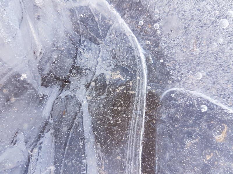 Piękni wizerunki lód, woda i ziemia w cañadas Del Teide, Tenerife 20 obrazy stock