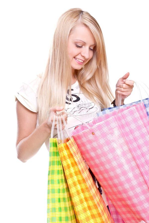 piękni zakupy kobiety potomstwa zdjęcia stock