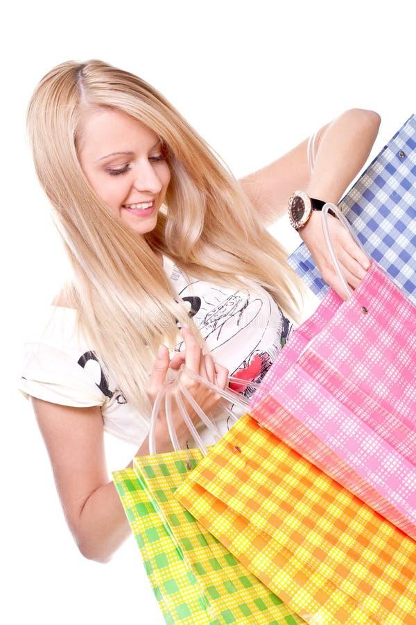 piękni zakupy kobiety potomstwa zdjęcie royalty free