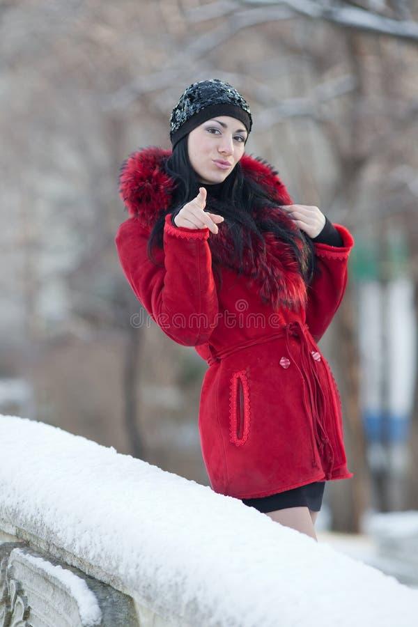 piękni zima kobiety potomstwa obrazy stock