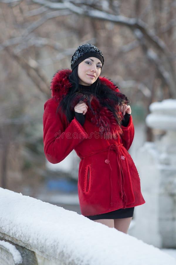 piękni zima kobiety potomstwa obrazy royalty free