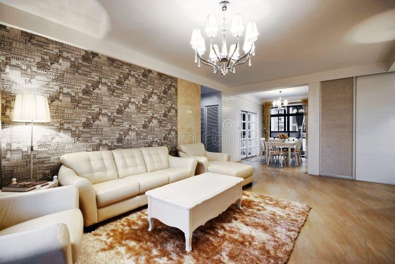 pięknie dekorujący nowożytni pokoje zdjęcie royalty free