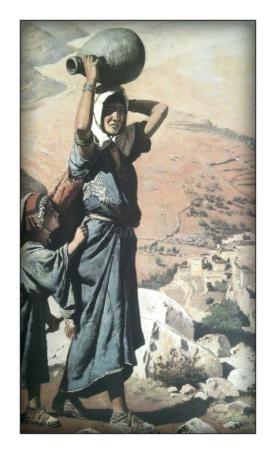 Pięknie malujący obrazek kobiety ilustracji