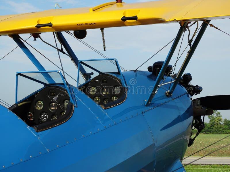 Pięknie wznawiający antyk PT17 Boeing Stearman obrazy stock