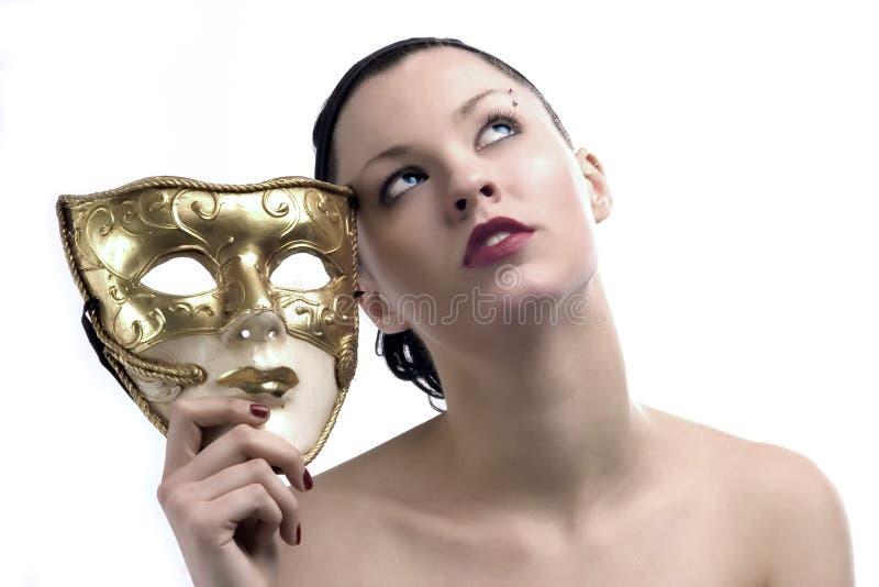 piękno 2 maska zdjęcie royalty free
