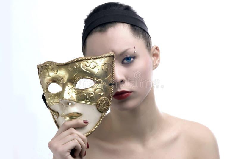 piękno 3 maska obraz stock