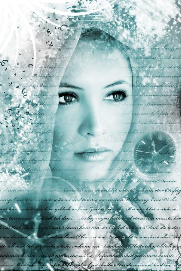 piękno artystyczny portret zdjęcie royalty free