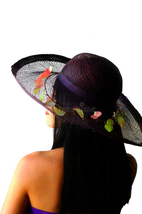 piękno azjatykcia kapeluszu słomy zdjęcia stock