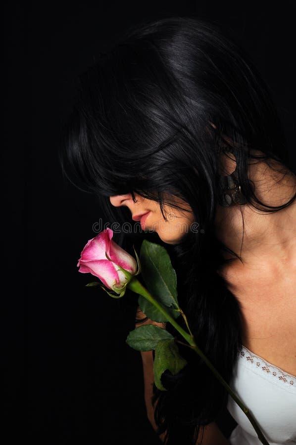 piękno brunetka wzrastał obraz stock
