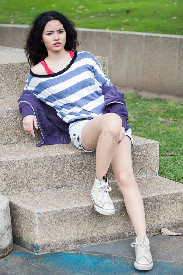 Piękno dziewczyna Outdoors obraz stock