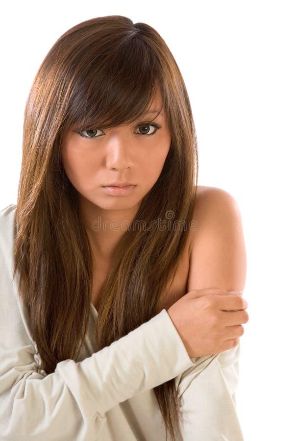 piękno dziewczyny peruka japońskiego obraz stock