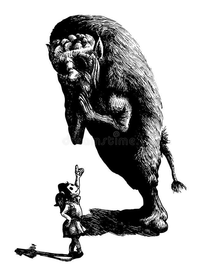 Piękno i życzliwa bestia royalty ilustracja