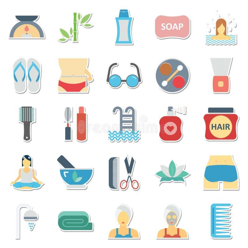 Piękno i zdrój Odizolowywaliśmy Wektorowego ikony Use dla piękno zdroju i salonu projektów ilustracji