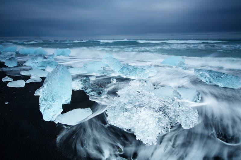Piękno Iceland wyspa, dramatyczny krajobraz zdjęcia stock
