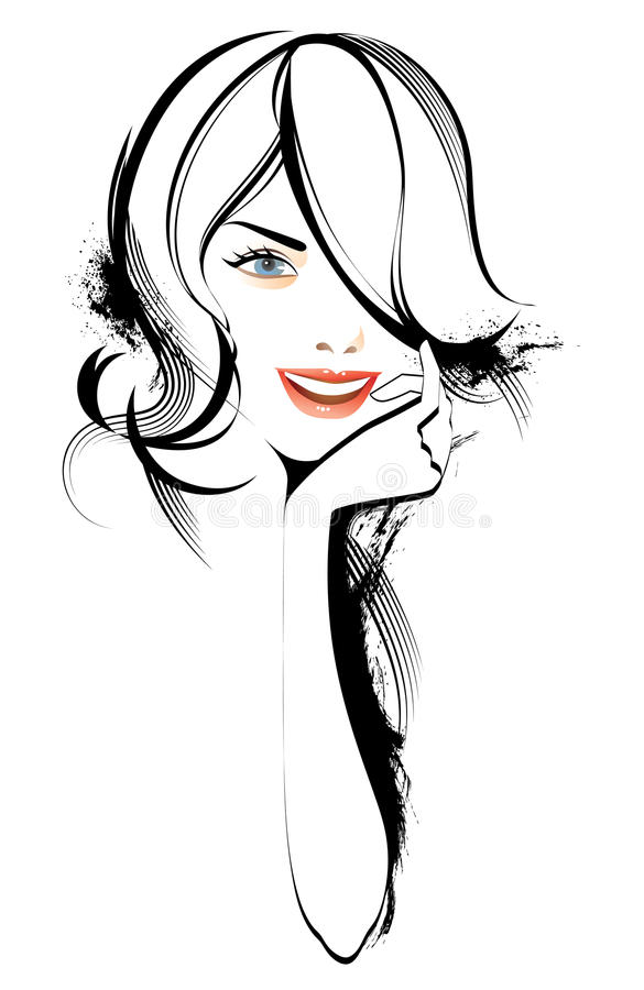 piękno kobieta ilustracja wektor