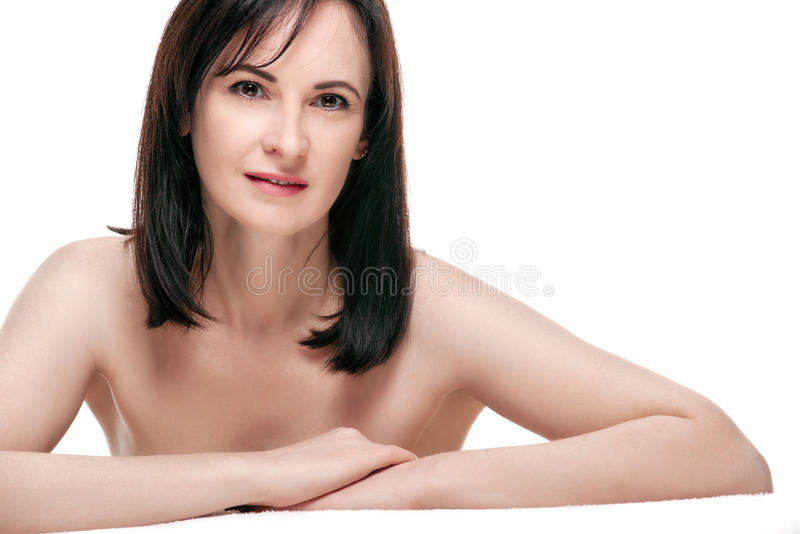 Piękno kobieta z gładką skórą zdjęcie stock