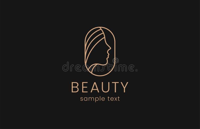 Piękno kobiety mody logo obraz stock