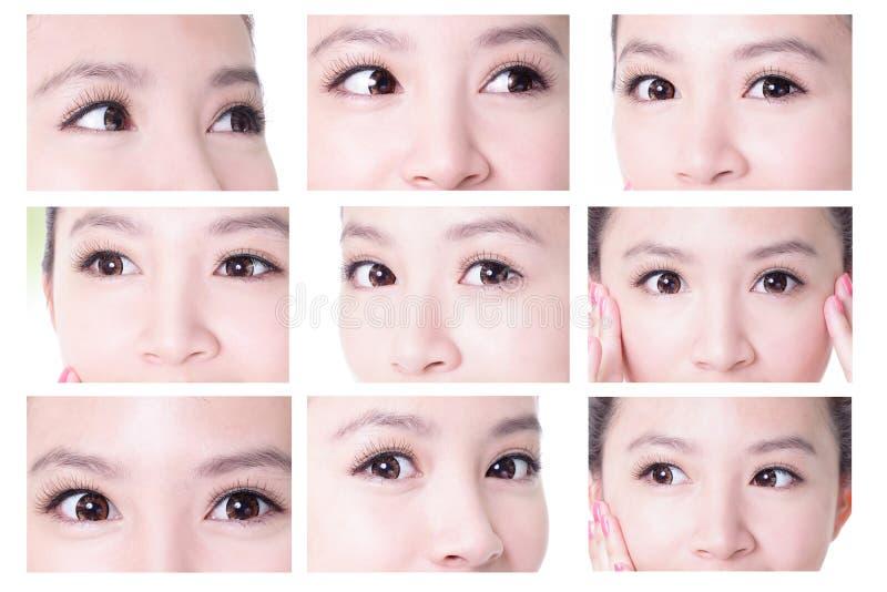 Piękno kobiety oczy zdjęcie royalty free
