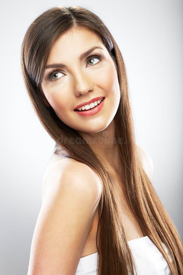 Piękno kobiety twarzy portret z bliska młody modelowych zdjęcie stock