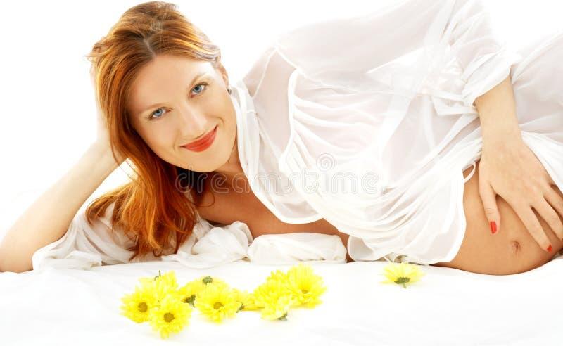 piękno kwiatów w ciąży uśmiecha się zdjęcia royalty free