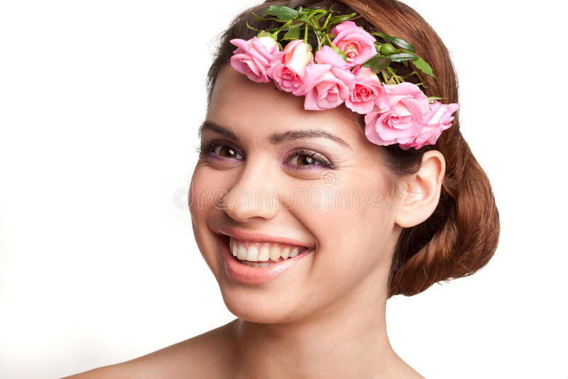 piękno kwitnie kobiety fotografia stock